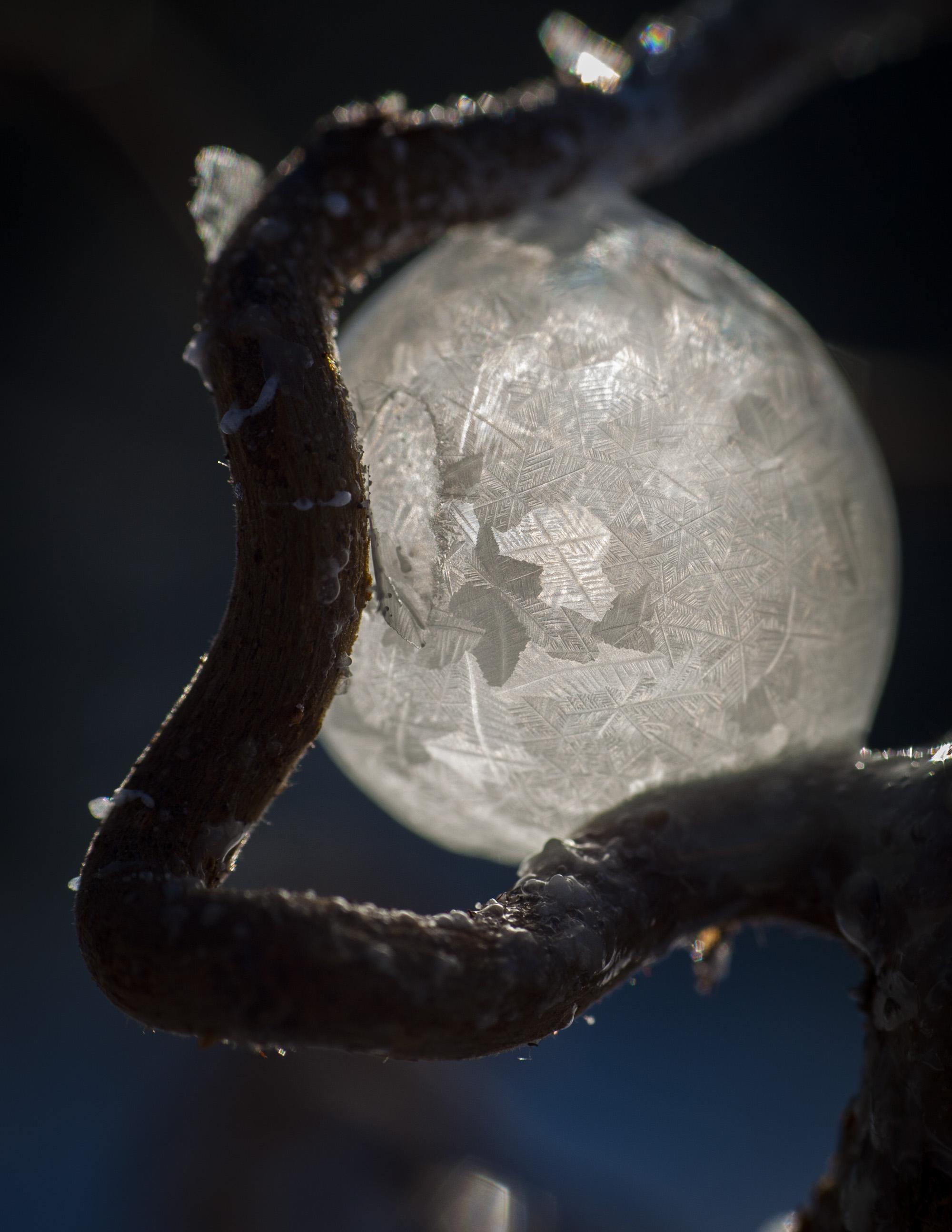 Nästan FÖR kallt för såpbubblor